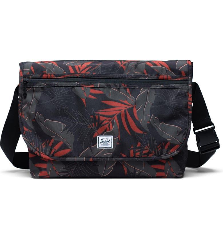 HERSCHEL SUPPLY CO. Grade Messenger Bag, Main, color, DARK OLIVE PALM