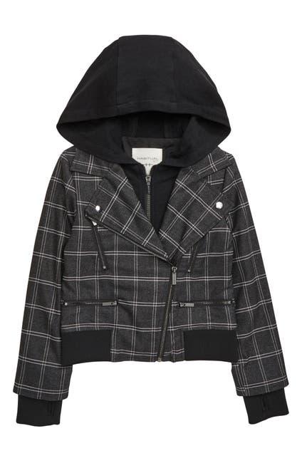 Image of Habitual Kids Lyla Plaid French Terry Hoodie Zip Jacket