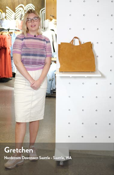 Simple Suede Tote, sales video thumbnail