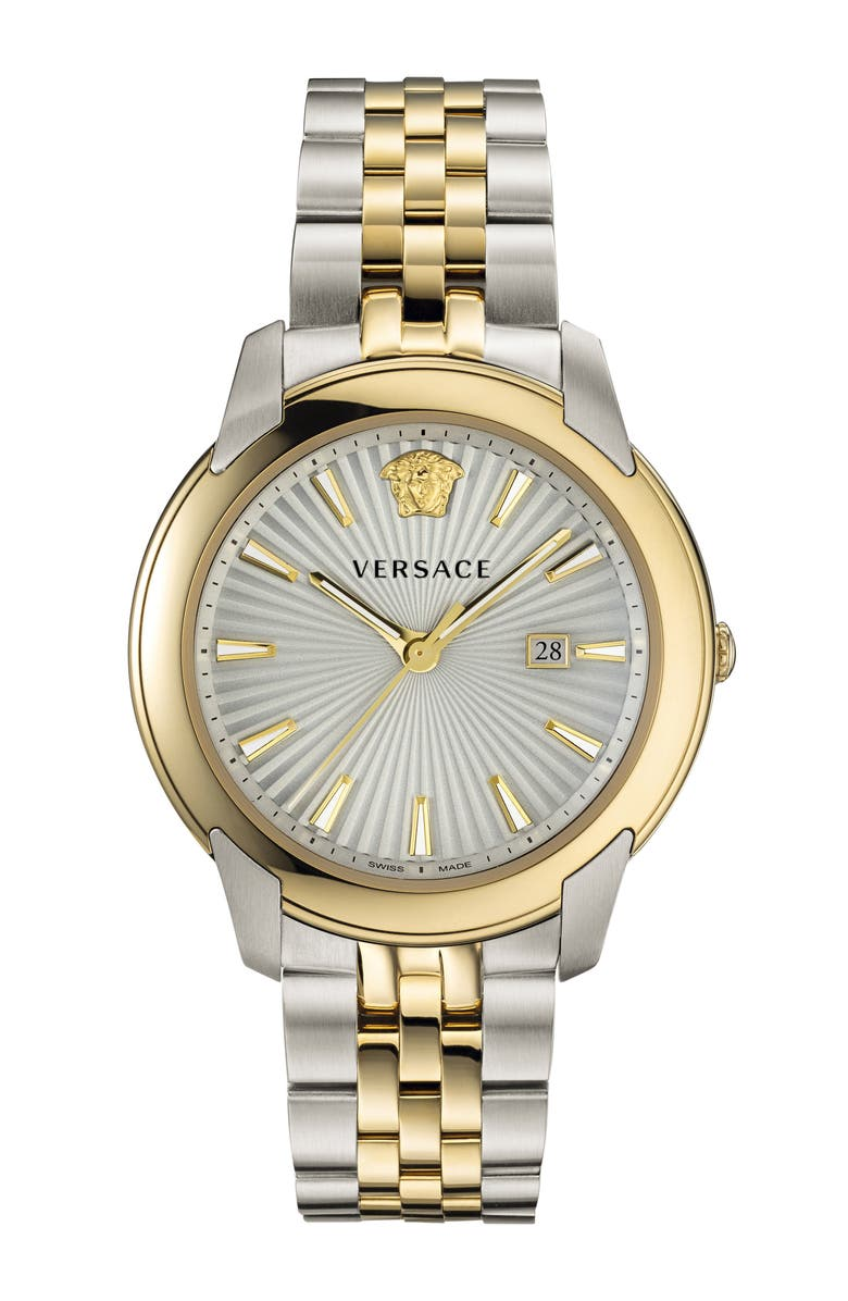 VERSACE Urban Bracelet Watch, 42mm, Main, color, SILVER/ GOLD