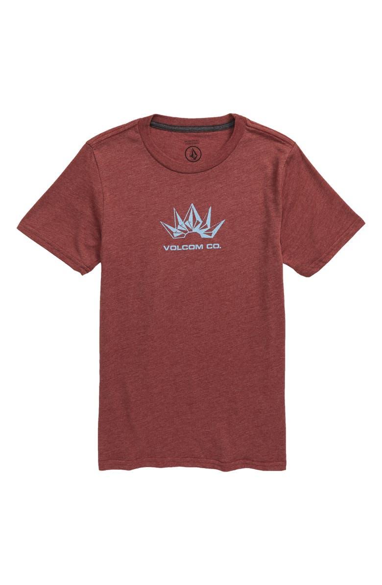 VOLCOM Stone Break Graphic T-Shirt, Main, color, CRIMSON