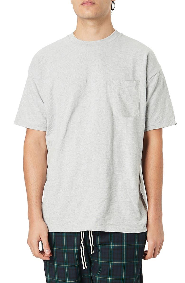ZANEROBE Box Fit Slub Pocket T-Shirt, Main, color, MARBLE