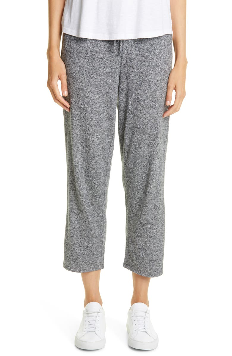 EILEEN FISHER Slouchy Crop Pants, Main, color, ASH