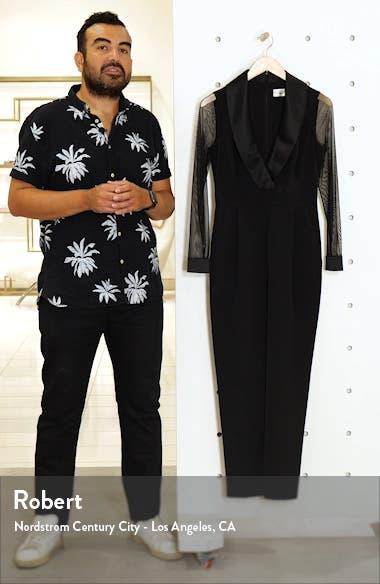 Tuxedo Collar Long Sleeve Jumpsuit, sales video thumbnail