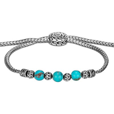 John Hardy Classic Chain Turquoise Pull Through Bracelet