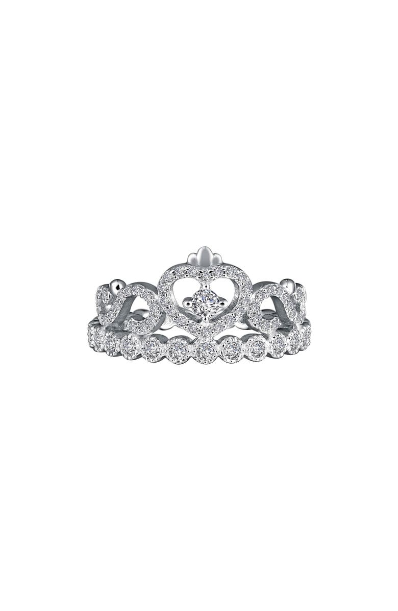 LAFONN Tiara Simulated Diamond Eternity Ring, Main, color, SILVER/ CLEAR