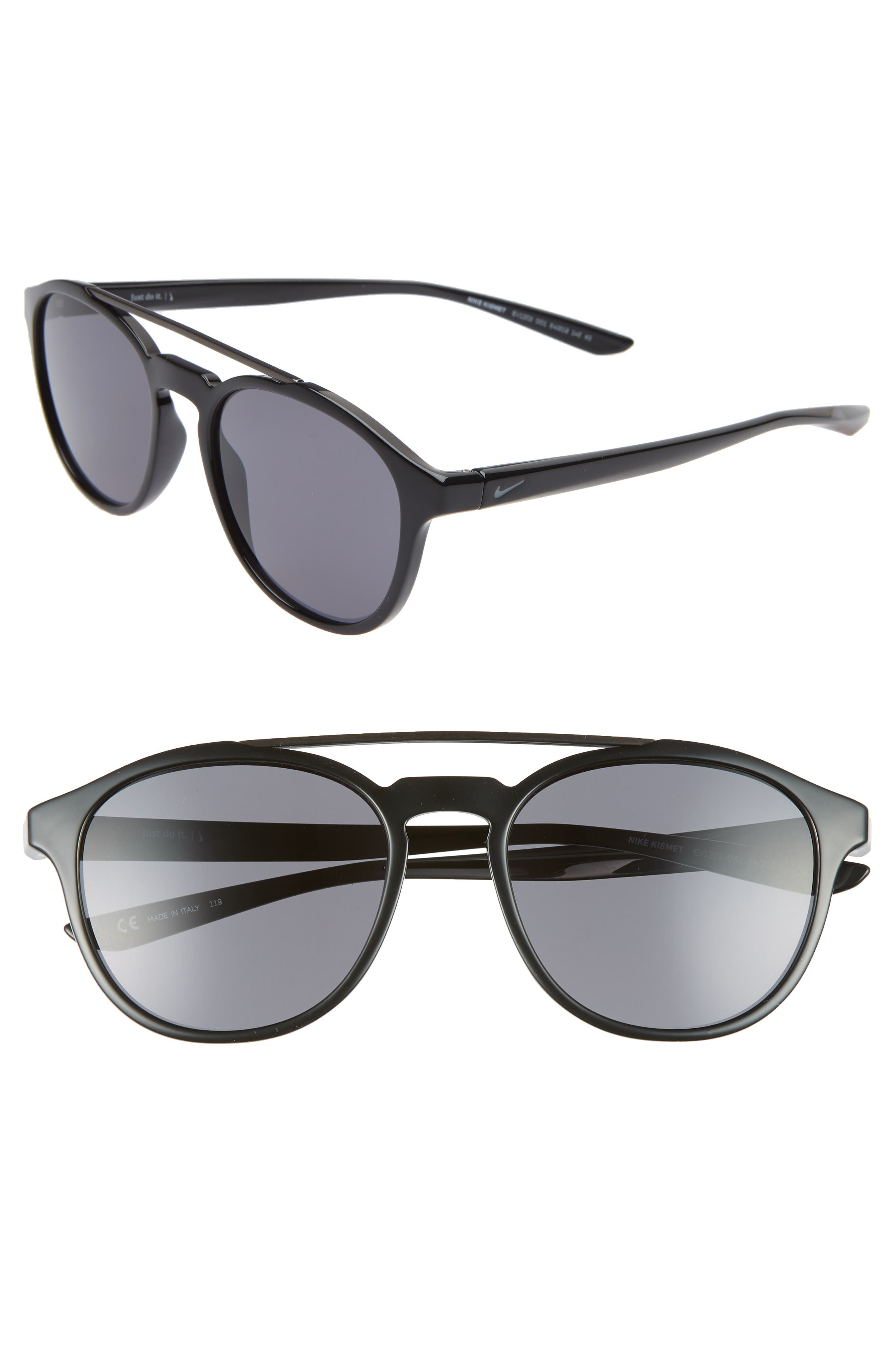 Nike Kismet 5m Round Sunglasses - Black/ Dark Grey
