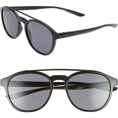 Nike Kismet 5m Round Sunglasses - Black/ Dark Grey