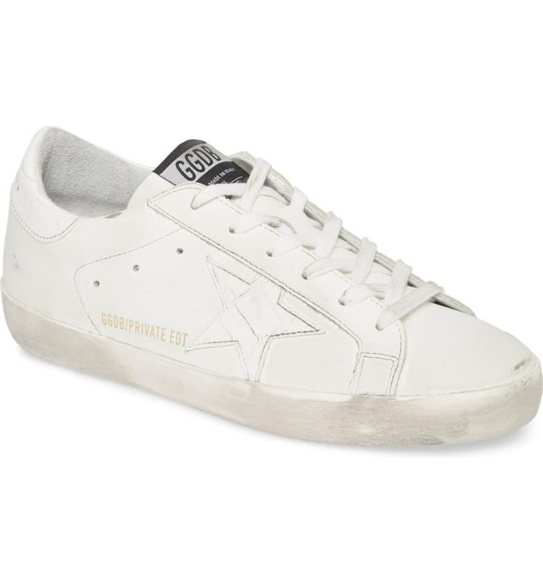 GOLDEN GOOSE Superstar Sneaker, Main, color, WHITE LEATHER