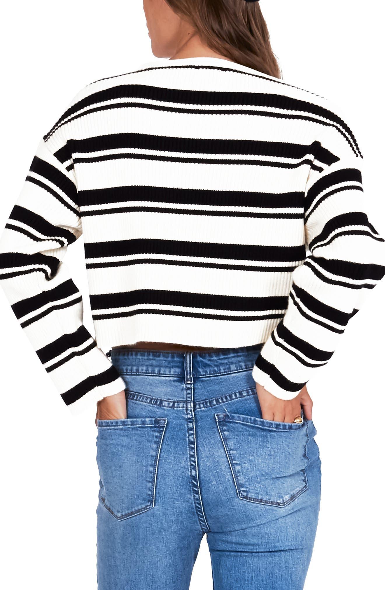 ,                             Bahia Stripe Crop Sweater,                             Alternate thumbnail 2, color,                             001