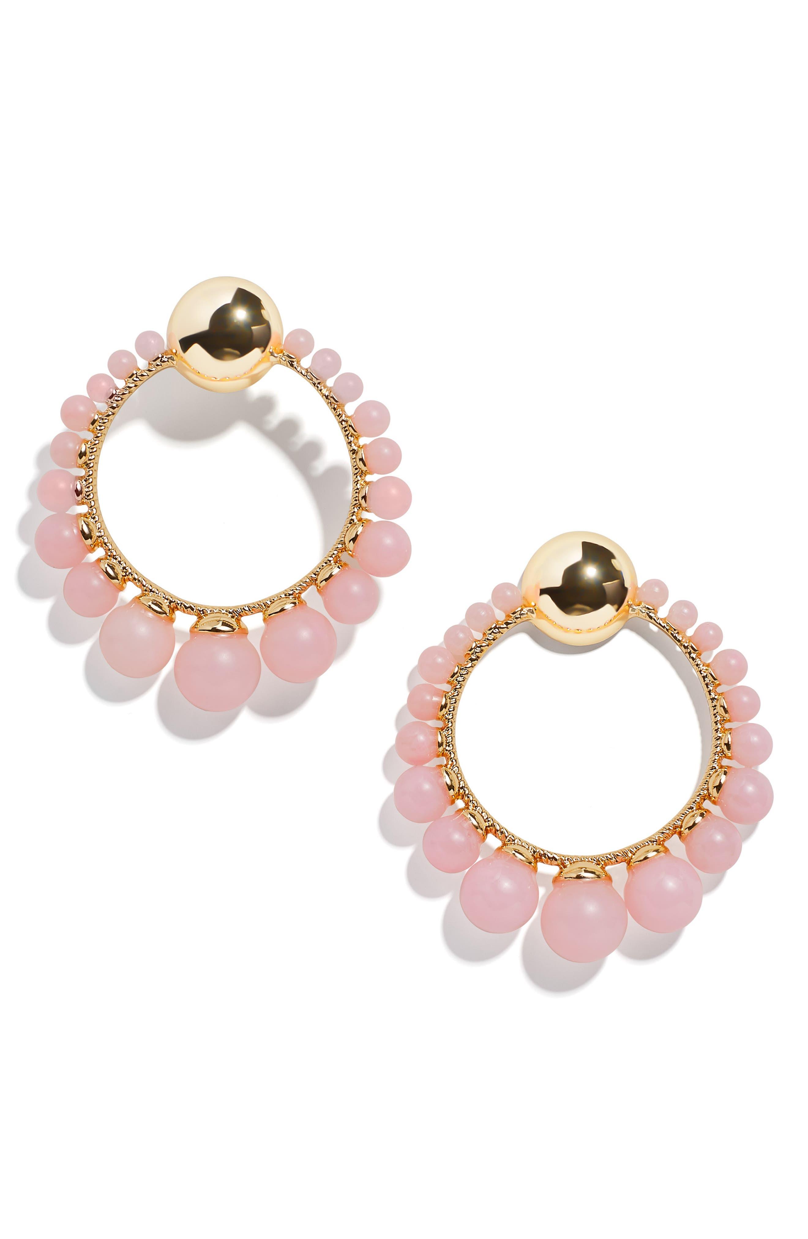 Image of BAUBLEBAR Beaded Open Circle Drop Earrings