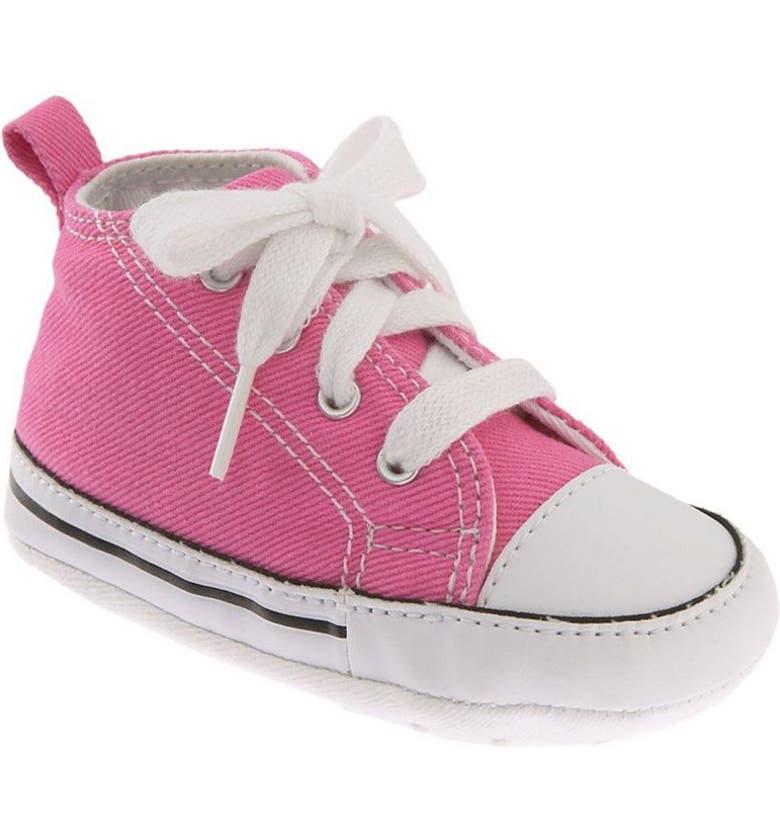 CONVERSE Chuck Taylor<sup>®</sup> Crib Sneaker, Main, color, PINK