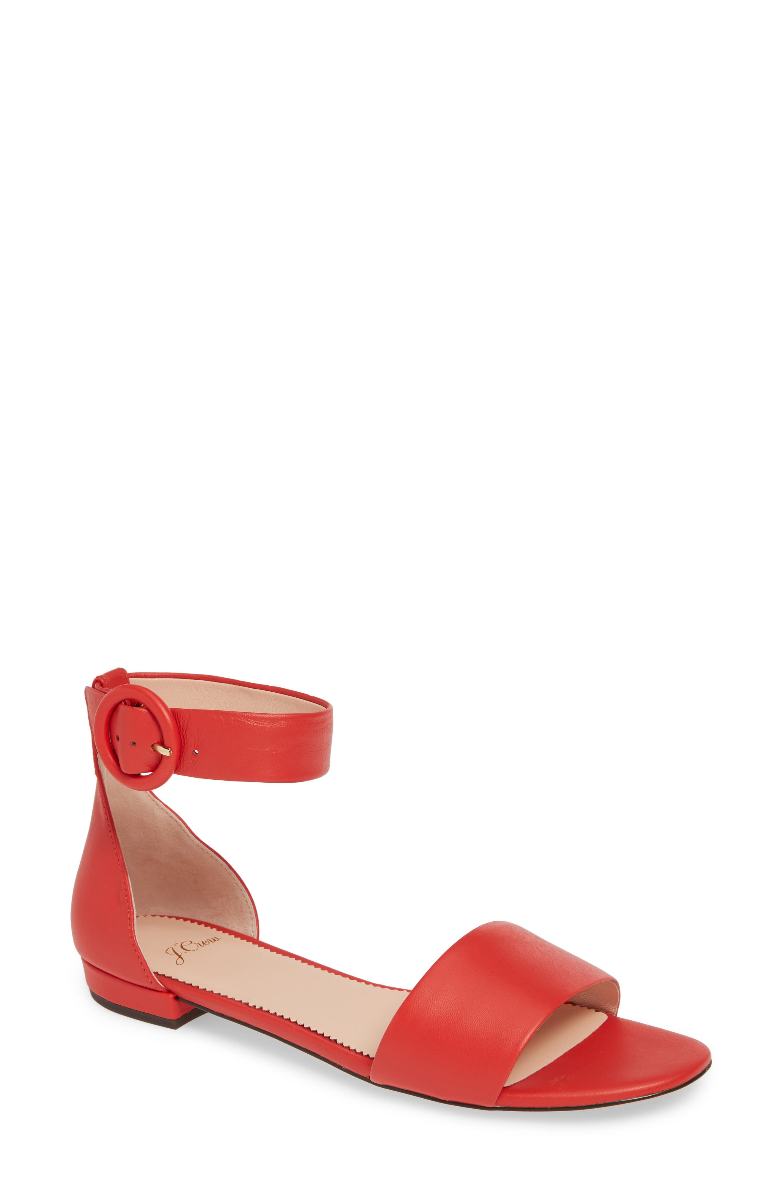 ,                             Ankle Strap Flat Sandal,                             Main thumbnail 7, color,                             600