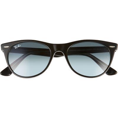 Ray-Ban Phantos 52mm Round Sunglasses - Black/ Blue Gradient Grey