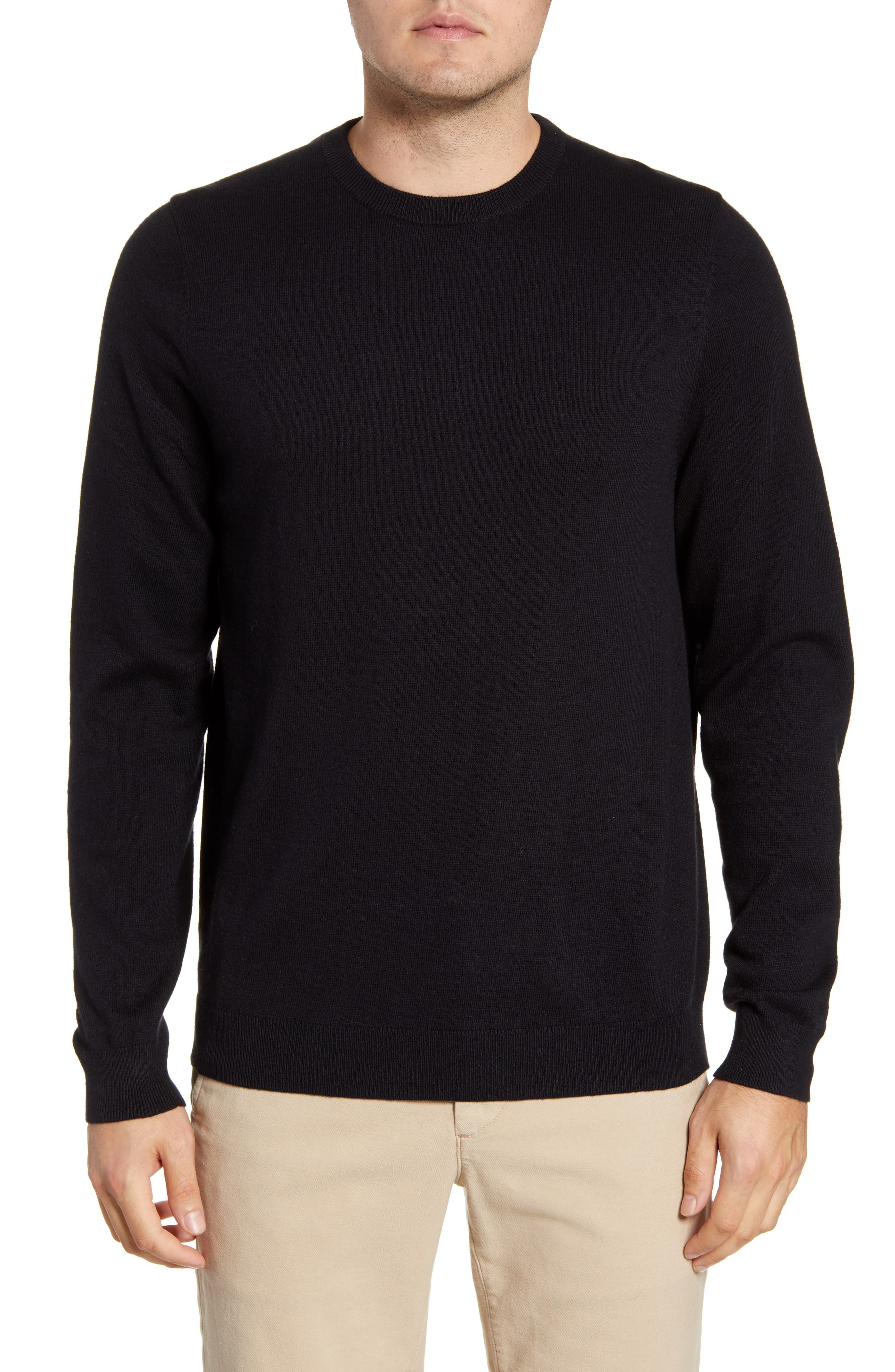 A timeless crewneck sweater is knit from cashmere-softened cotton for enhanced warmth and softness. Style Name: Nordstrom Men\\\'s Shop Cotton & Cashmere Crewneck Sweater. Style Number: 826183. Available in stores.