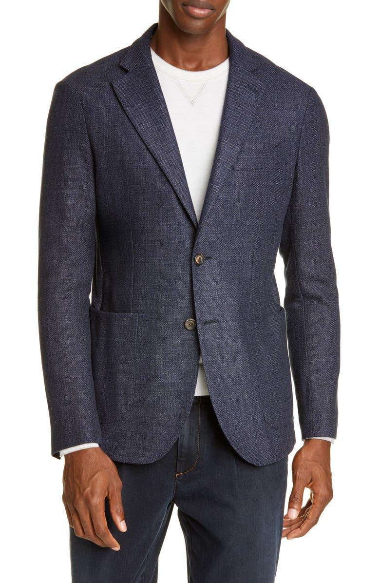ELEVENTY Slim Fit Solid Wool Blend Sport Coat, Main, color, 410