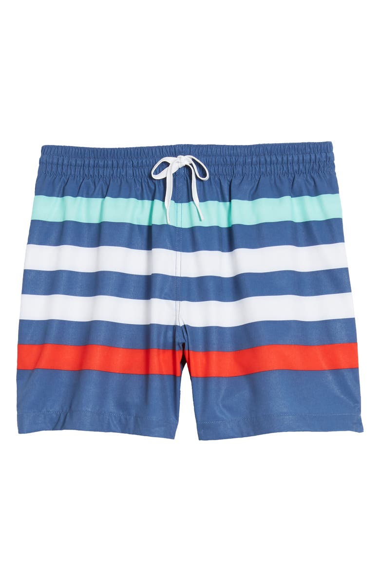 CHUBBIES The Me Likey The Stripeys Swim Trunks, Main, color, MEDIUM BLUE