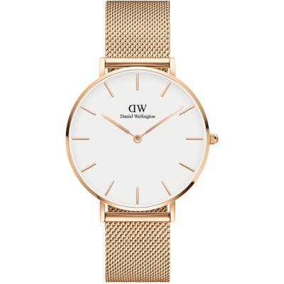 Daniel Wellington Petite Melrose Mesh Strap Watch,