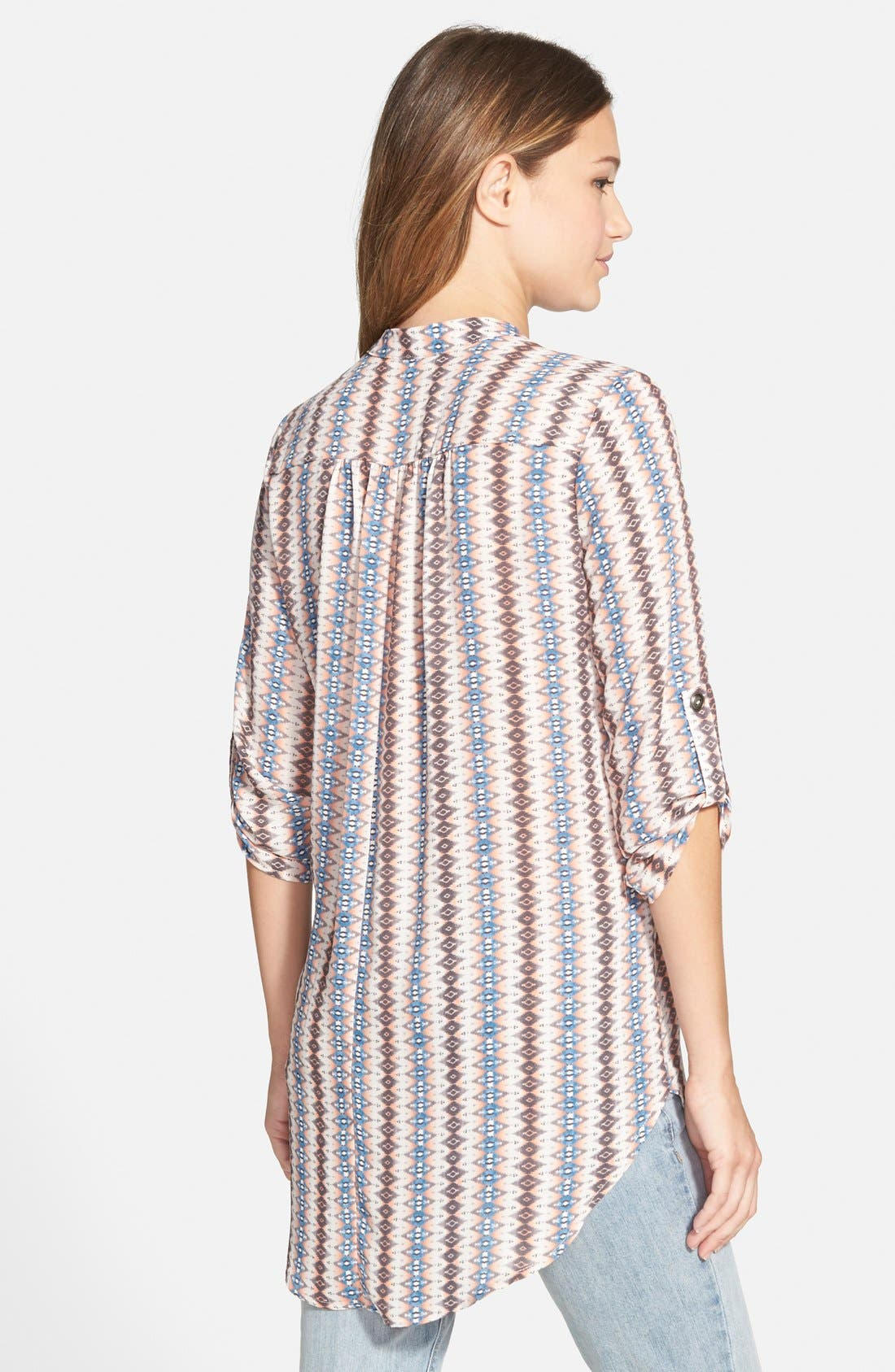,                             Perfect Roll Tab Sleeve Tunic,                             Alternate thumbnail 412, color,                             901