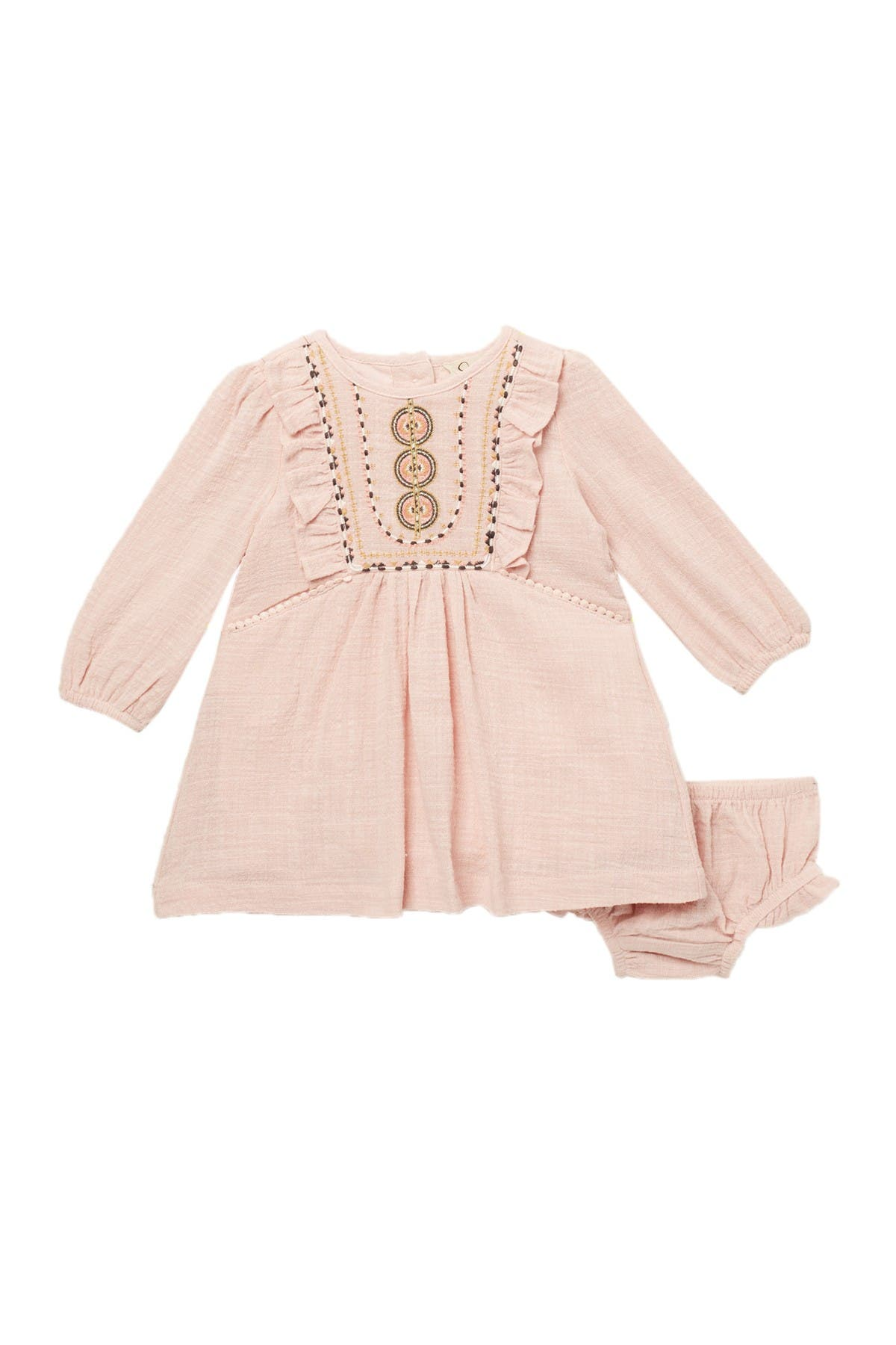 Image of Jessica Simpson Embroidered Gauze Dress & Bloomers