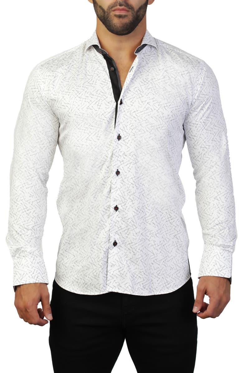 MACEOO Einstein Line White Regular Fit Shirt, Main, color, WHITE