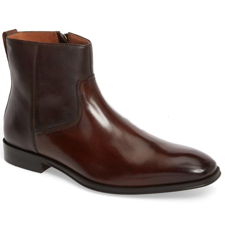 FLORSHEIM Belfast Mid Zip Boot, Main, color, BROWN LEATHER