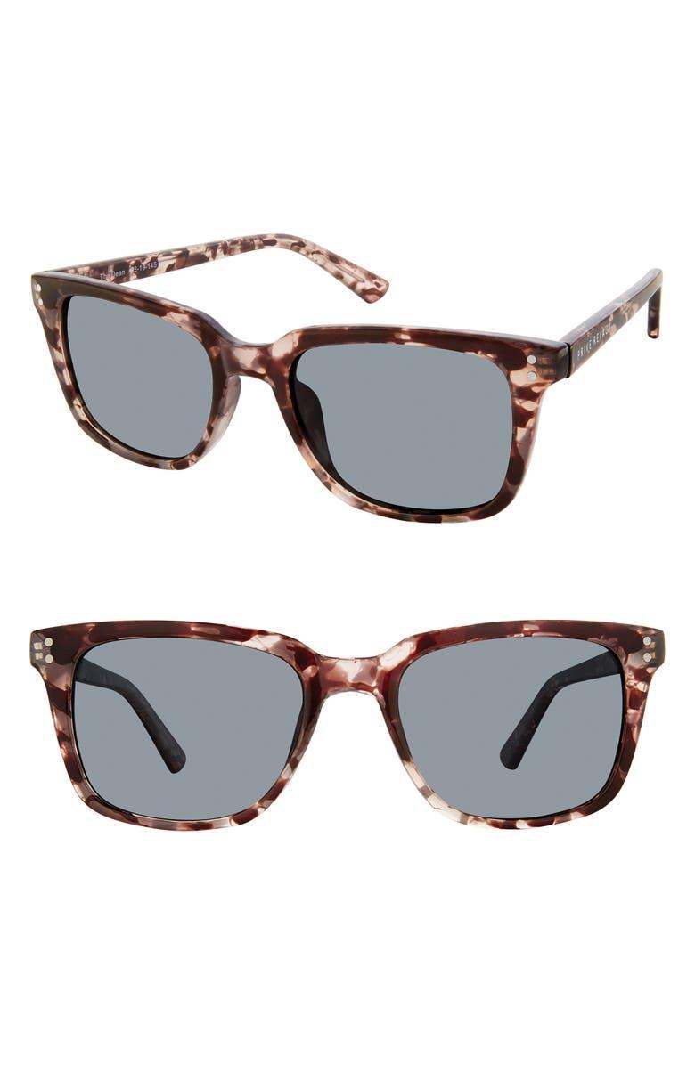 PRIVÉ REVAUX The Dean 52mm Polarized Sunglasses, Main, color, MULTI TORTOISE