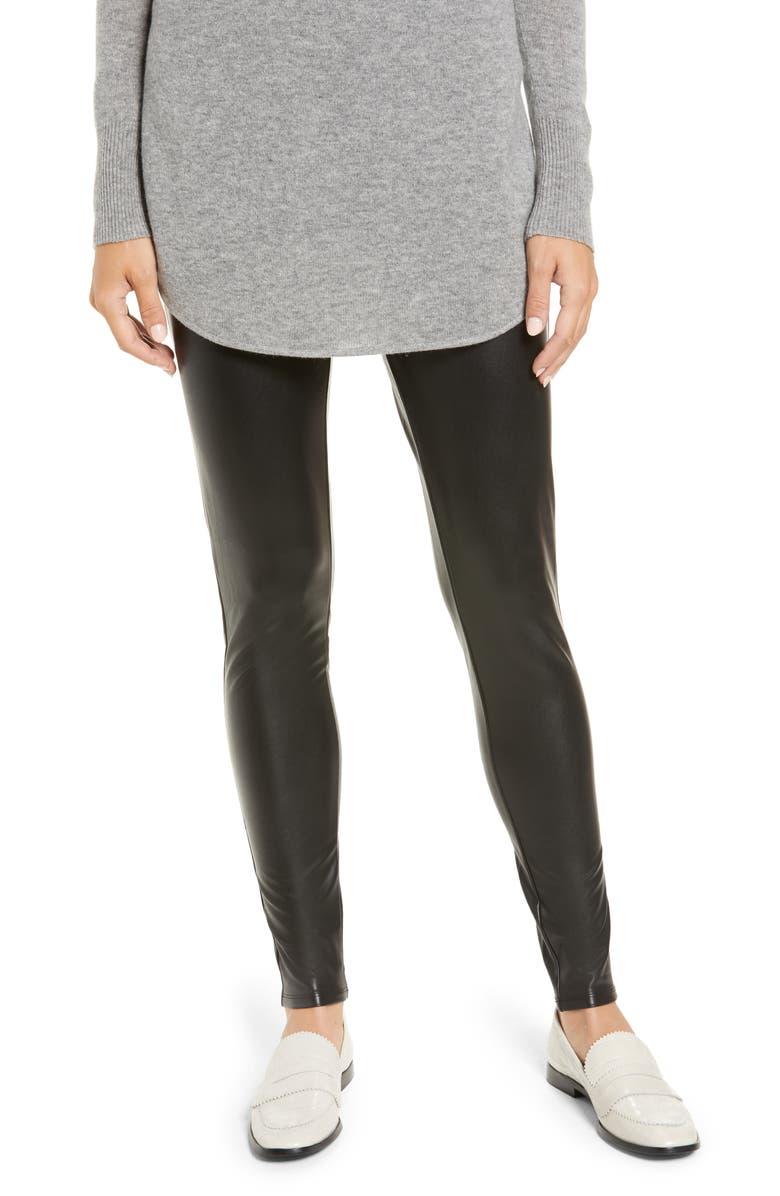 HALOGEN<SUP>®</SUP> Faux Leather Leggings, Main, color, 001