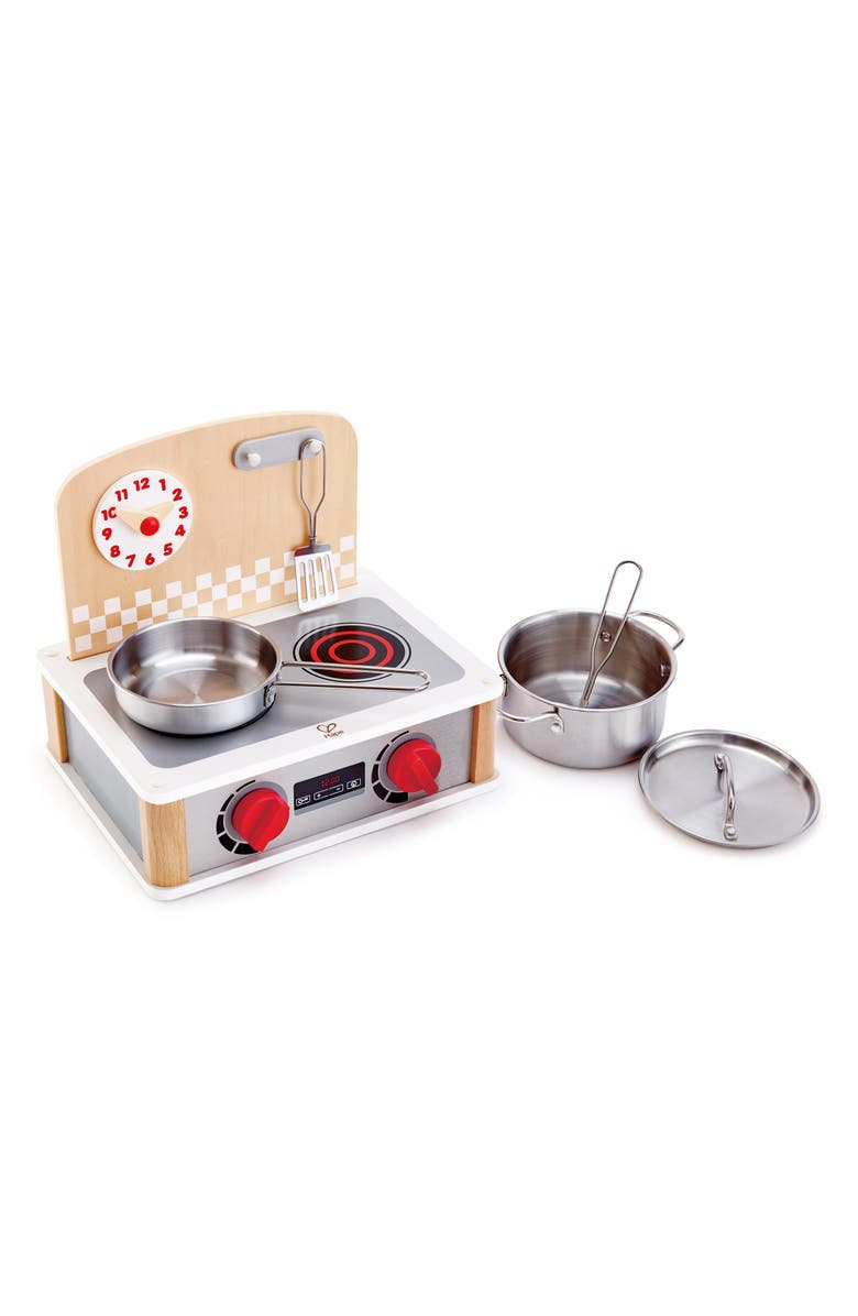 HAPE 2-in-1 Kitchen & Grill Toy Set, Main, color, SILVER