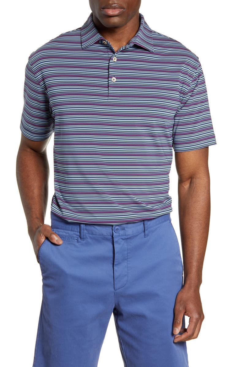 PETER MILLAR Stretch Polo Shirt, Main, color, NAVY