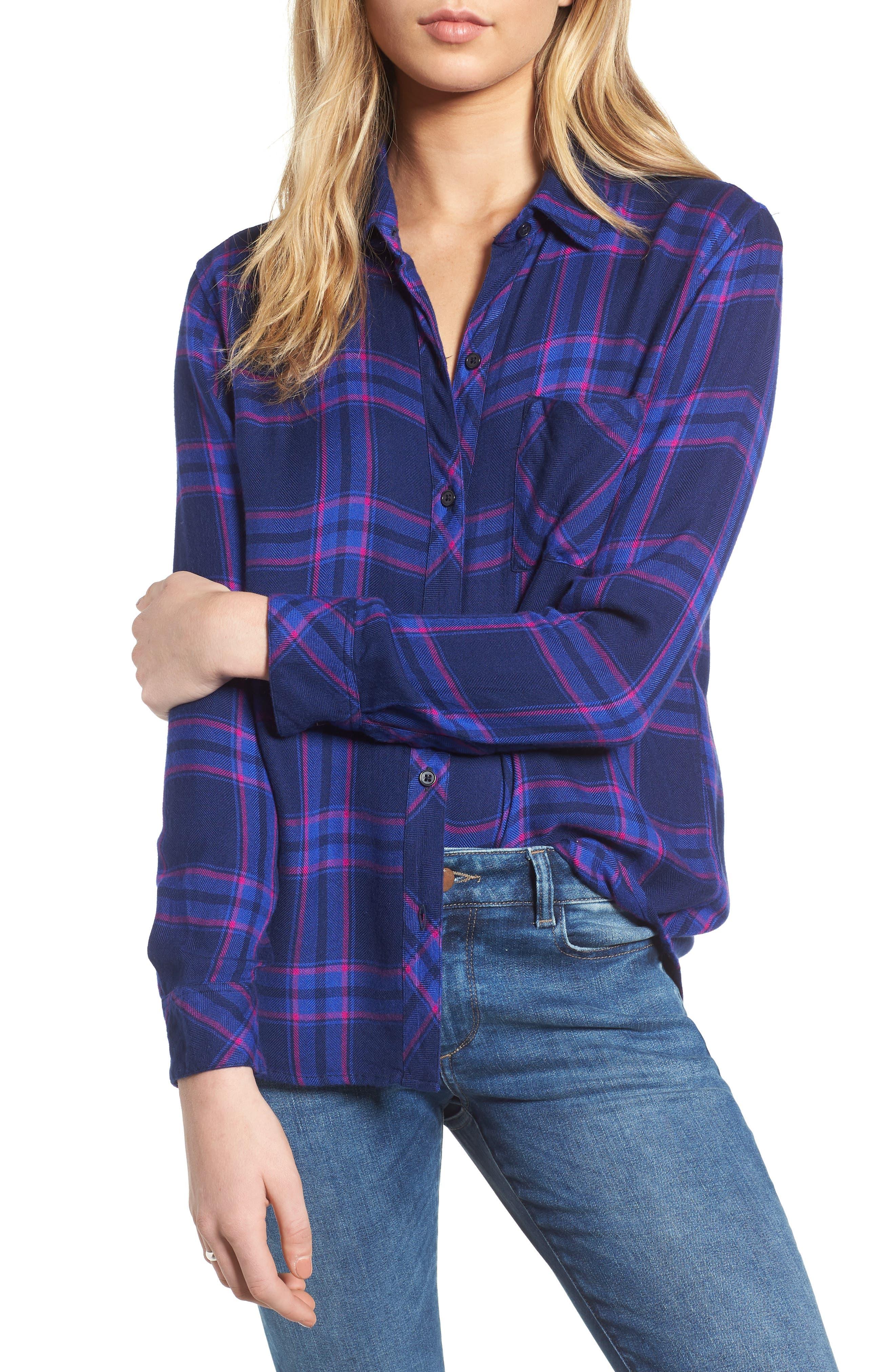 ,                             Hunter Plaid Shirt,                             Main thumbnail 456, color,                             405