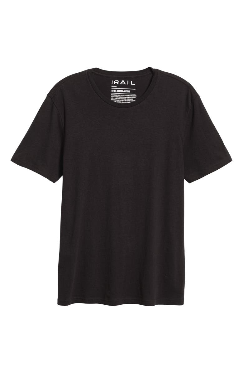 THE RAIL Slim Fit Crewneck T-Shirt, Main, color, BLACK