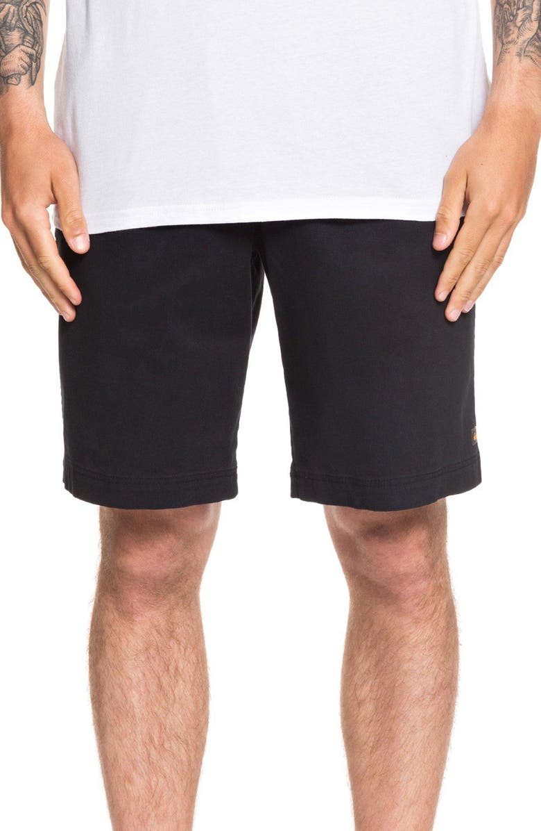QUIKSILVER Maldive Regular Fit Chino Shorts, Main, color, BLACK