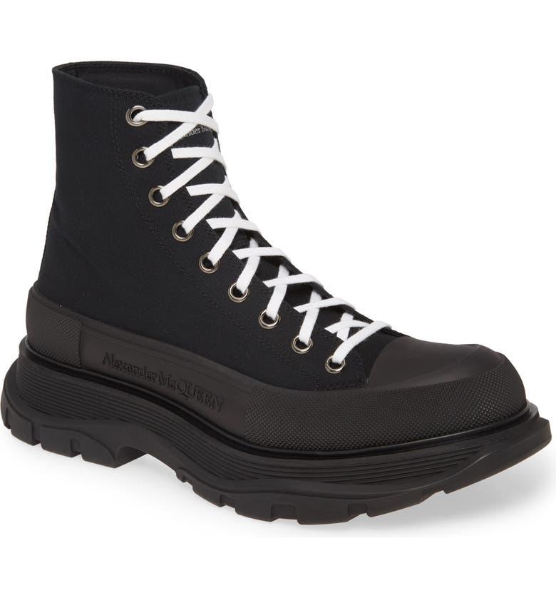 ALEXANDER MCQUEEN Cap Toe Boot, Main, color, BLACK/ BLACK/ BLACK