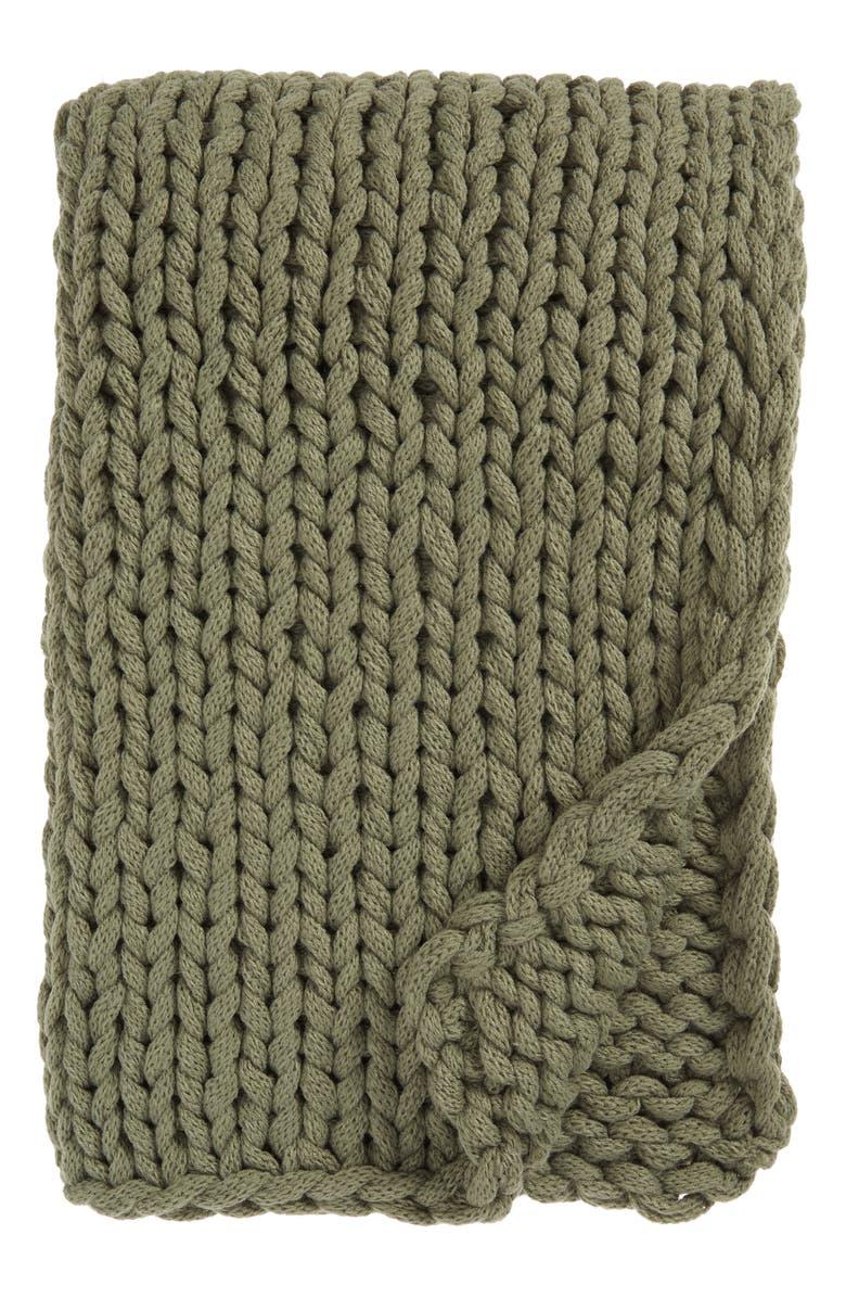 TREASURE & BOND Jersey Rope Throw Blanket, Main, color, 310