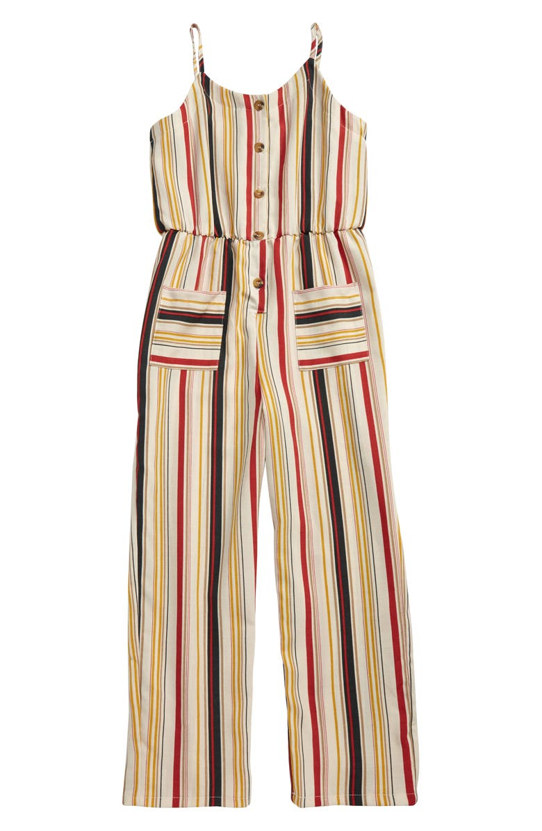 MIA CHICA Stripe Jumpsuit, Main, color, 900