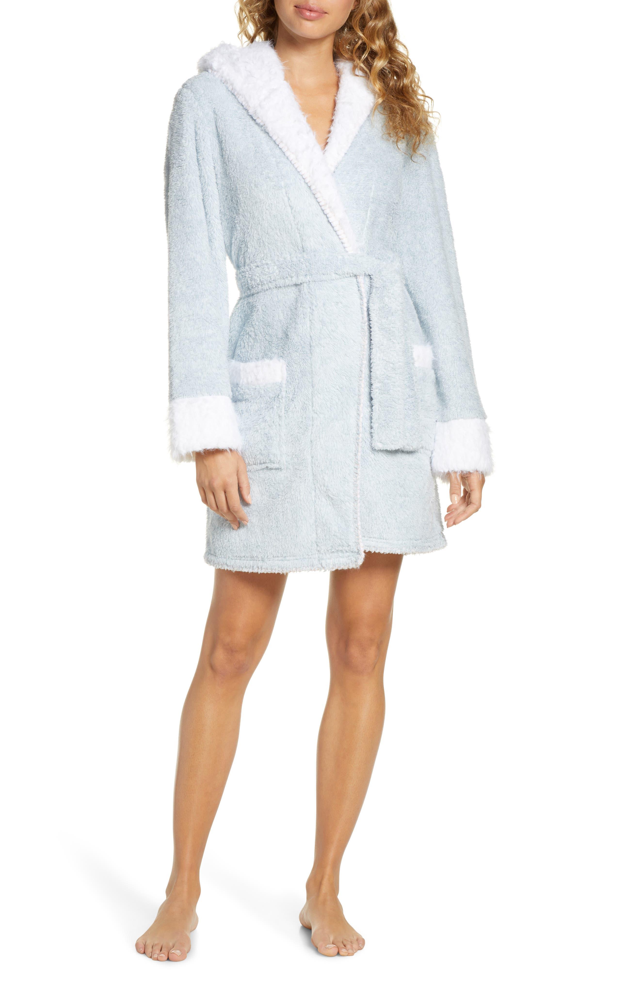 Image of Honeydew Intimates All Ears Hooded Plush Fleece Short Robe