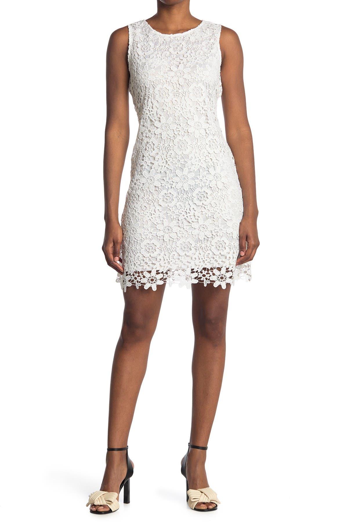 Image of bebe Chemical Lace Sheath Dress