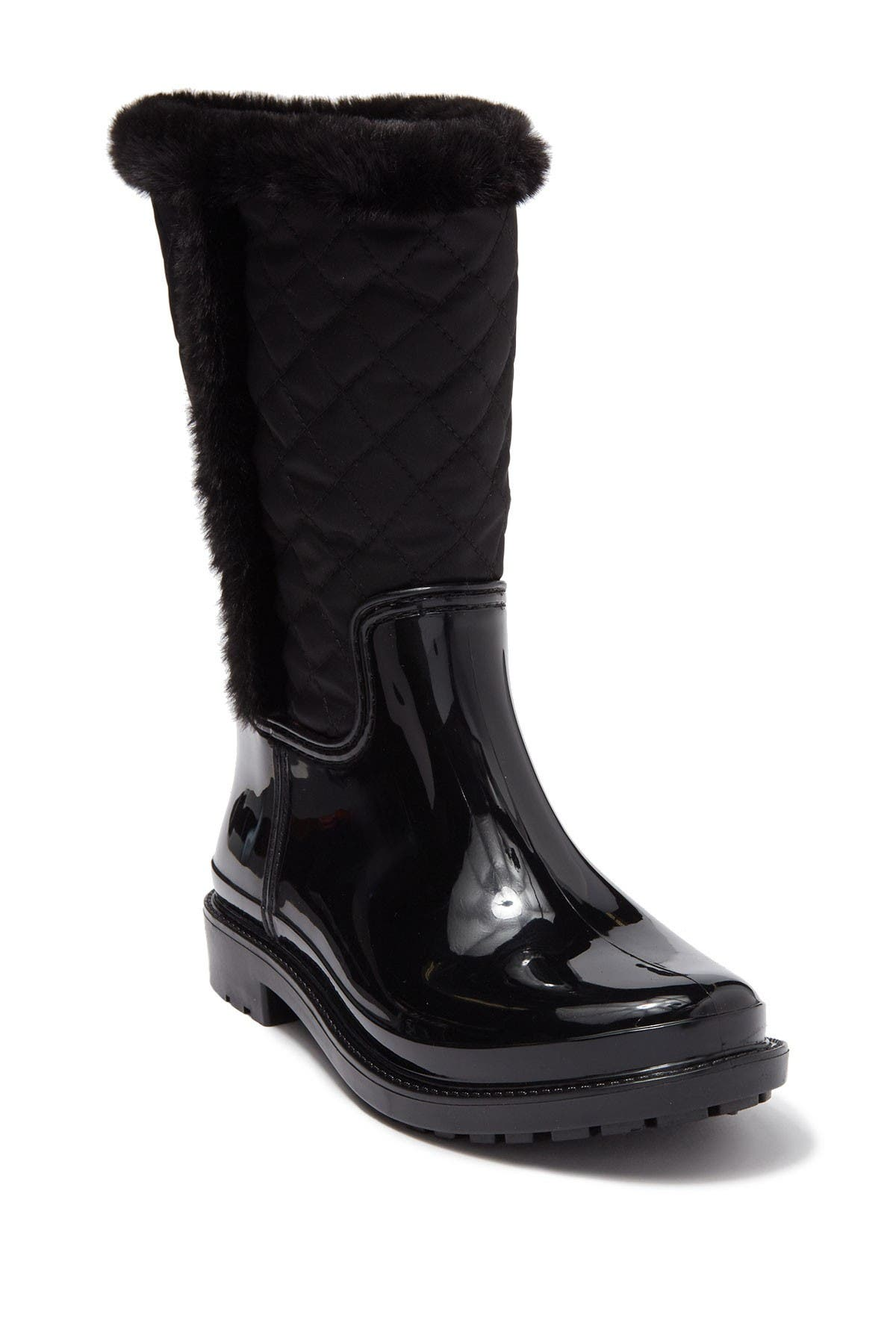 Image of Tommy Hilfiger Slushe Quilted Faux Fur Lined Rainboot