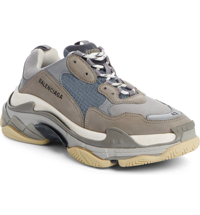 BALENCIAGA Triple S Retro Sneaker, Main, color, GREY/GREY