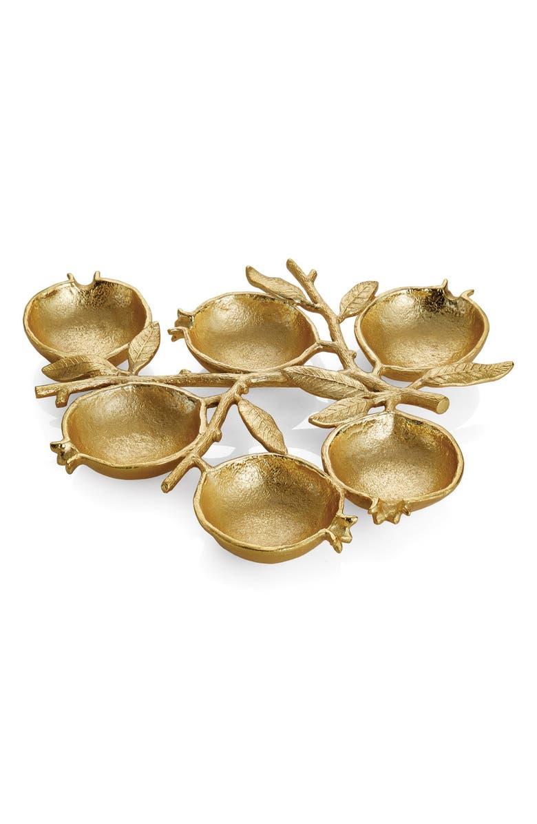MICHAEL ARAM 'Pomegranate' 6-Compartment Plate, Main, color, METALLIC GOLD