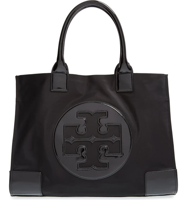 TORY BURCH 'Ella' Nylon Tote, Main, color, 001