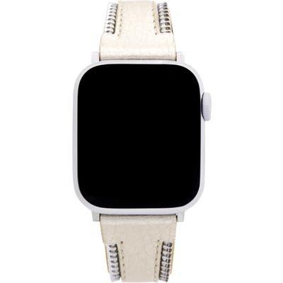 Rebecca Minkoff Metallic Leather Apple Watch Strap