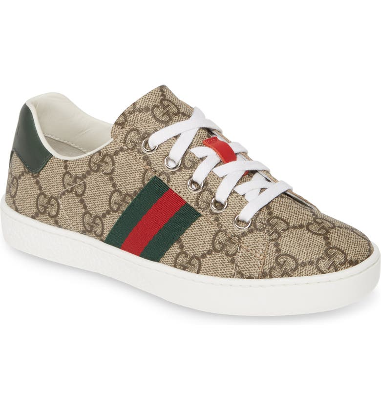 GUCCI New Ace Sneaker, Main, color, WHITE