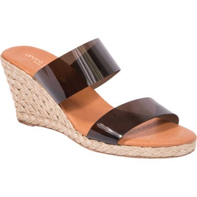 Andre Assous Anfisa Espadrille Wedge, Black