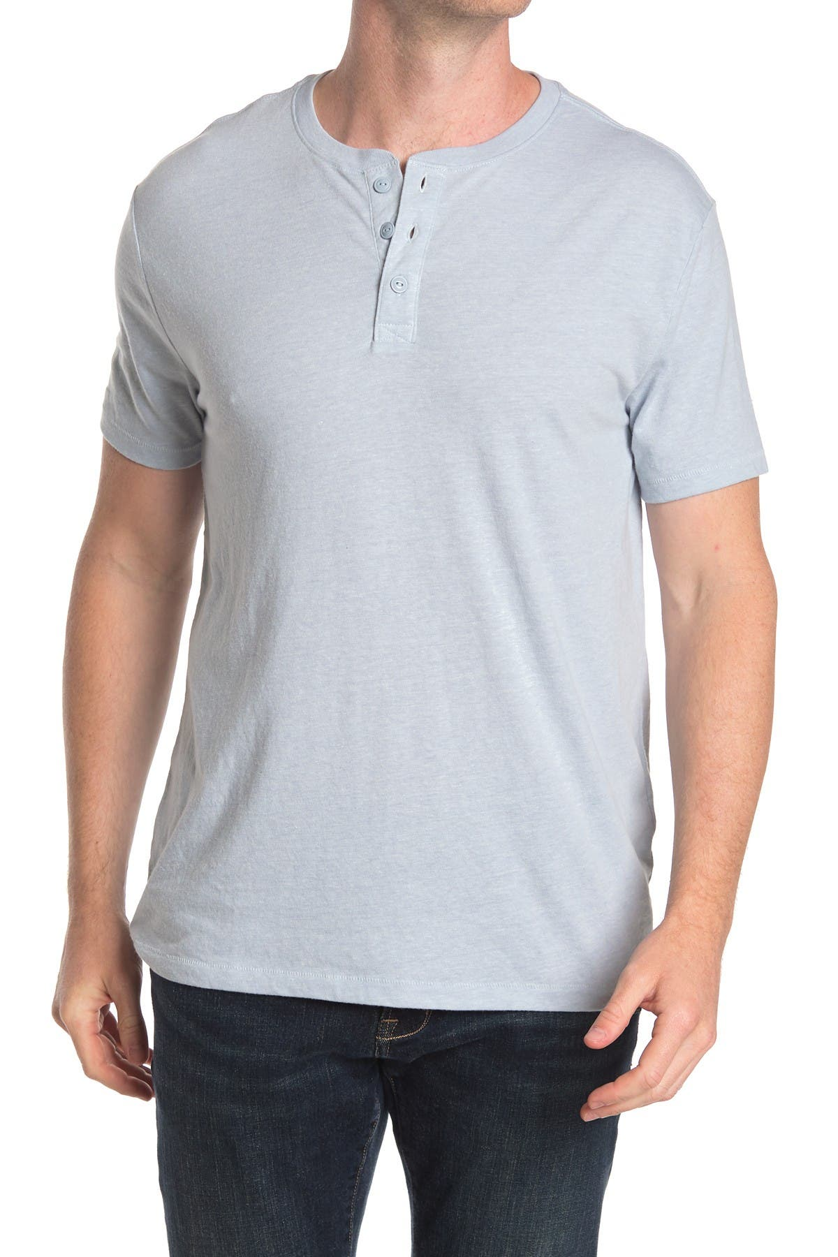 Image of Lucky Brand Short Sleeve Henley Top