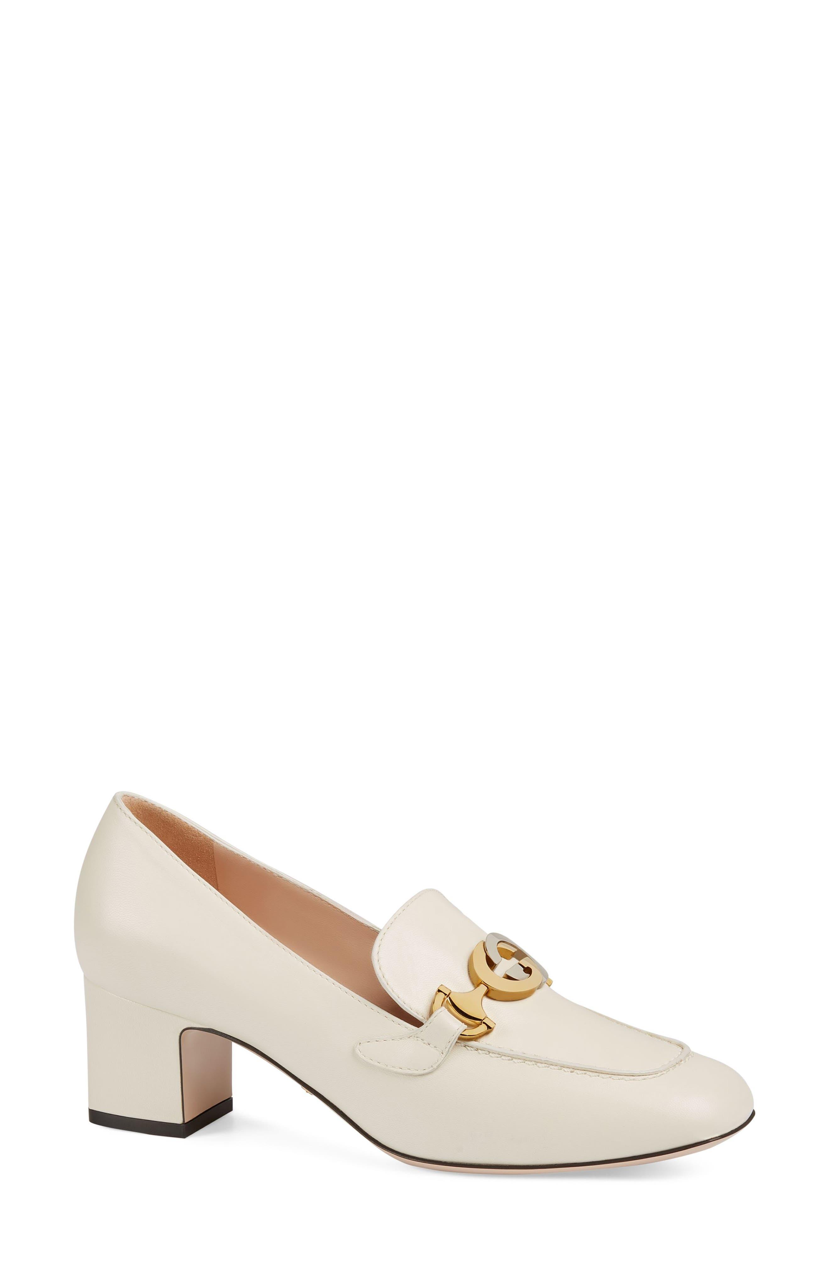Gucci Zumi Loafer Pump - White
