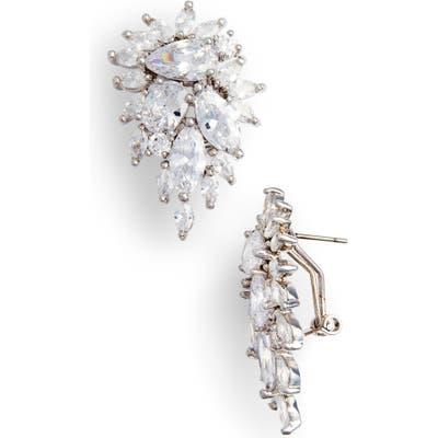 Nina Cluster Omega Clip Earrings