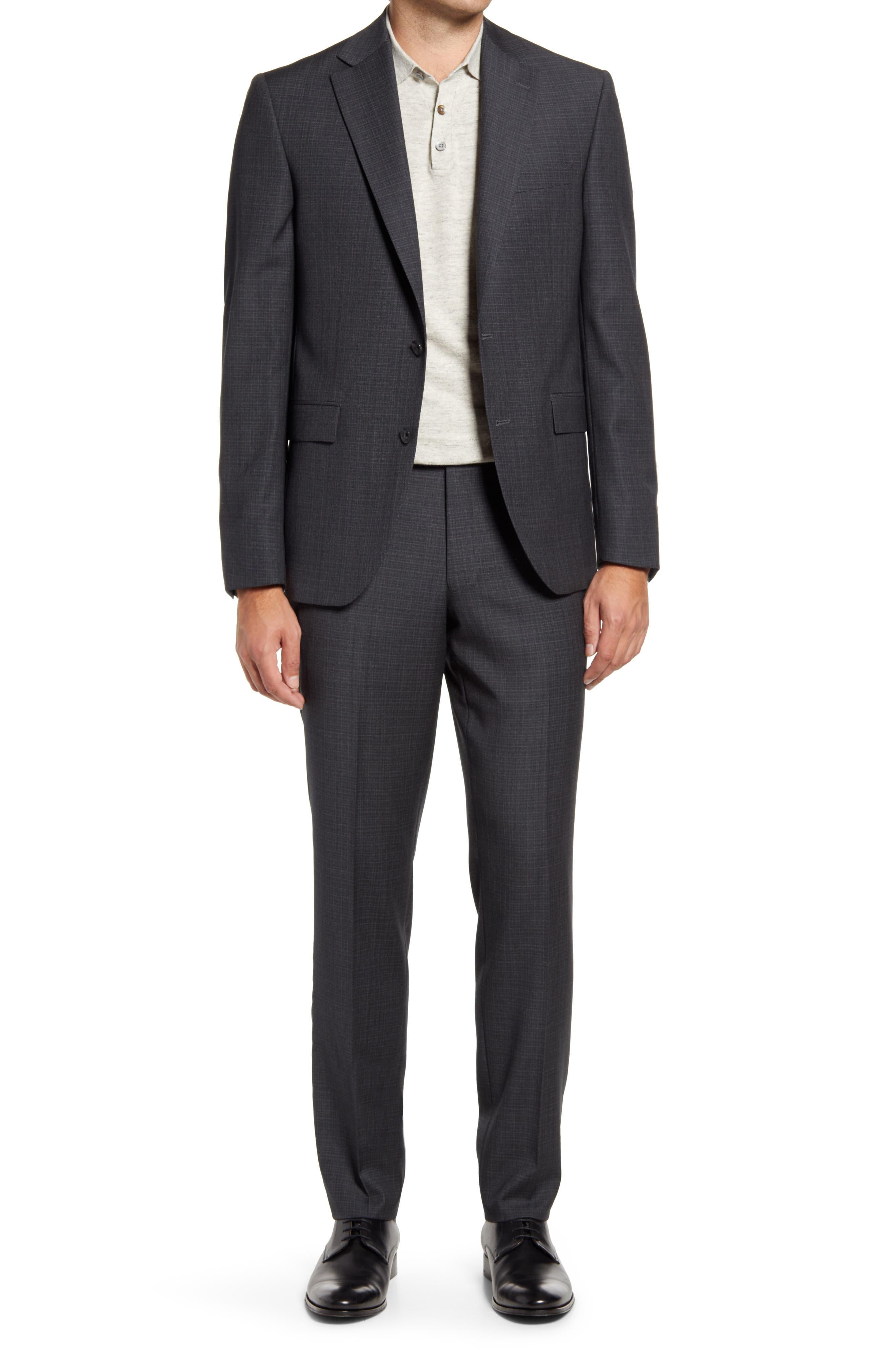 Esprit Charcoal Screen Weave Super 120S Wool Suit