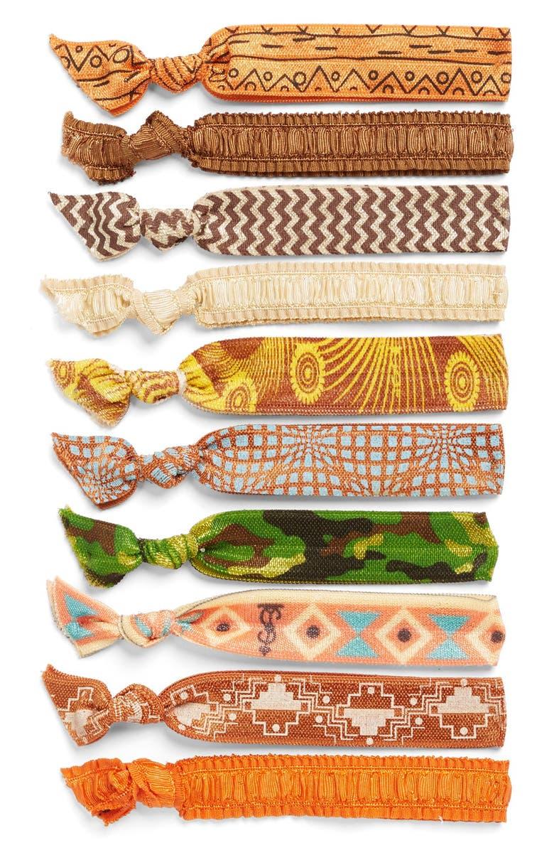 SIMBI Mixed Print Hair Ties, Main, color, 960